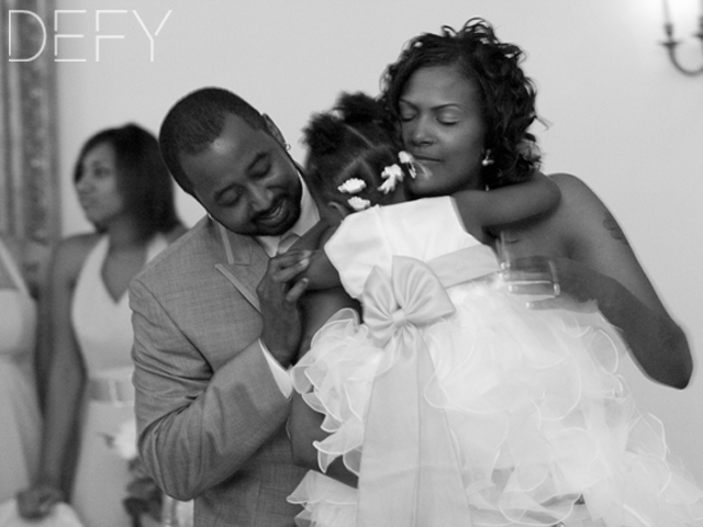 Bride and Groom First Dance with Daughter