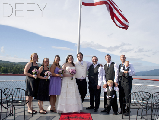 wedding party on ship on lake george