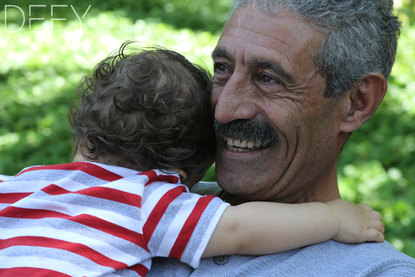 sweet hug for grandpa