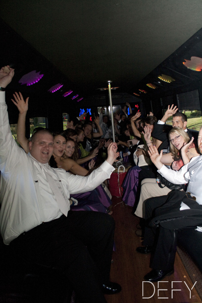 Wedding on the party bus