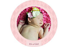 Baby Girl Wall Cling