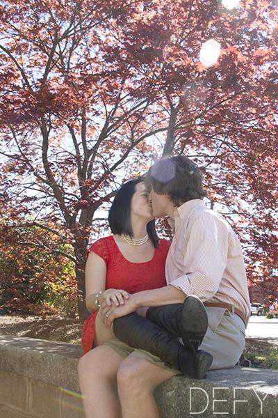 kiss in sun