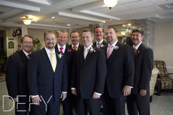 groom with all the boys