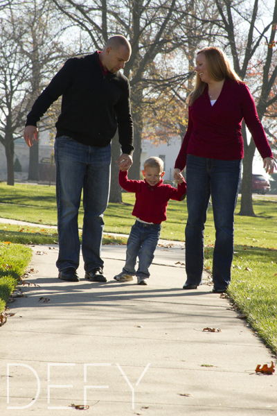 walking with mom and dad