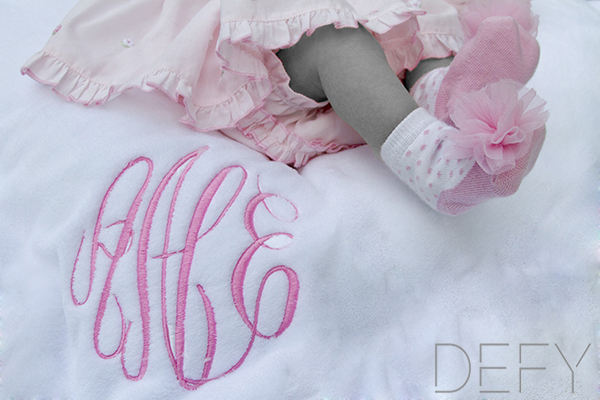 baby feet and monogram