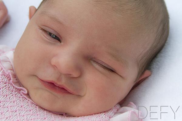 baby winking