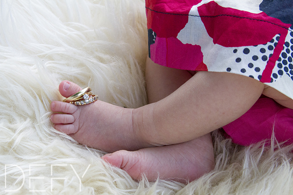 baby with rings on toes