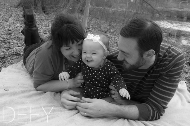 laughing with mommy and daddy