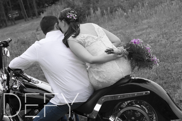kisses on the motorcycle