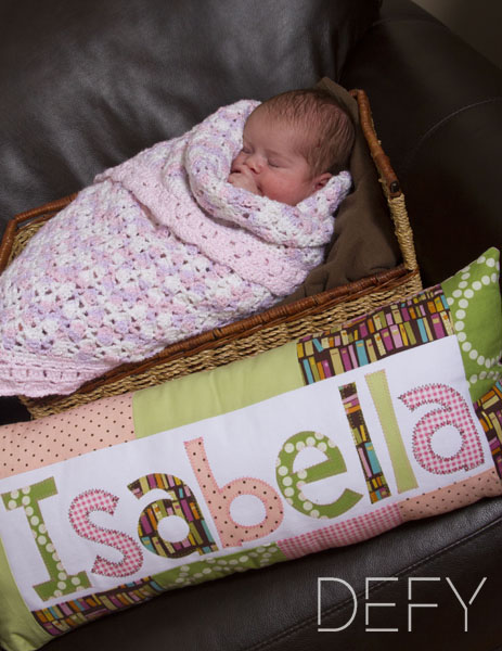 sleeping baby in basket